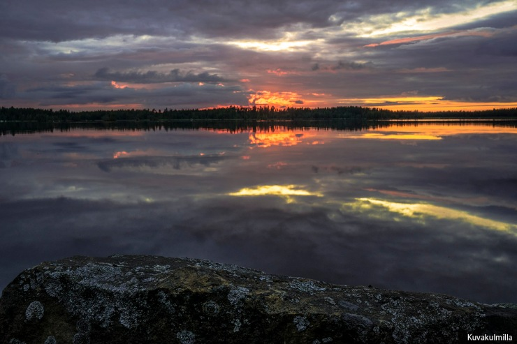 Sunset 22.7.2015 Seinäjoki Kyrkösjärvi Tero Hintsa