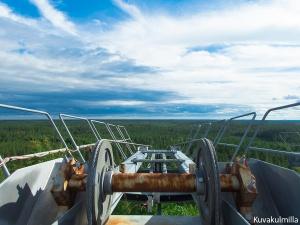 Seinäjoen Jouppiskan hiihtohissin yläasemalta avautuva näköala kameran Maisema -ohjelmalla kuvattuna.