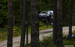 Big jump Neste Rally Finland Tero Hintsa