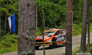 Big jump Neste Rally Finland Tero Hintsa