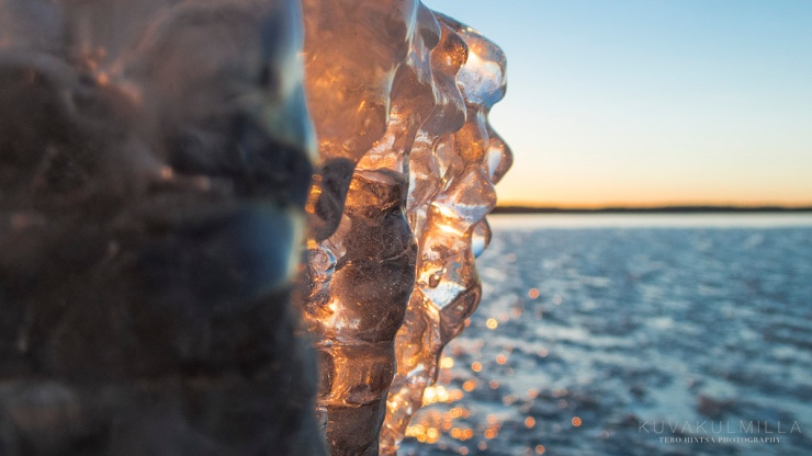 Jäätynyt auringonlasku Seinäjoki Kyrkösjärvi Tero Hintsa