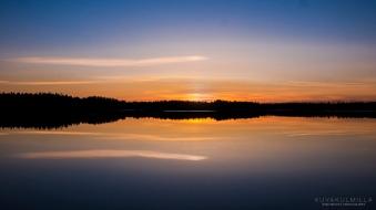 Auringonlasku Seinäjoen Kyrkösjärvellä Tero Hintsa