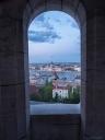 Linnakkeesta aukeaa todella kaunis näköala Tonavan yli.