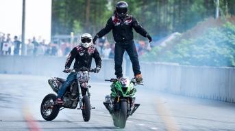 Vauhtiajot 2017. Stunts Freaks Team.