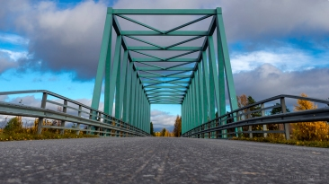 Kyröjoen ylittävä silta Malkakosken lähettyvillä.