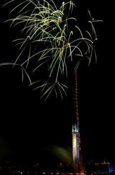 Ilotulitus Lakeudenpuistossa.