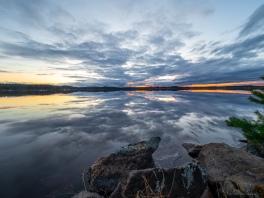 Auringonlasku Seinäjoki Kyrkösjärvi 29.4.2018.